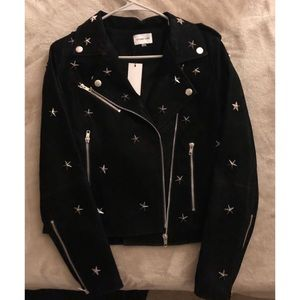Jackets & Blazers - Star Studded Moto Jacket